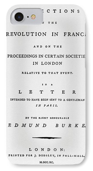 Burke Reflections, 1790 IPhone Case by Granger