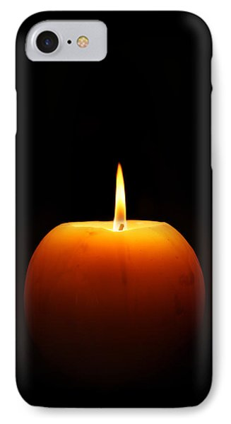 Burning Candle IPhone Case by Johan Swanepoel