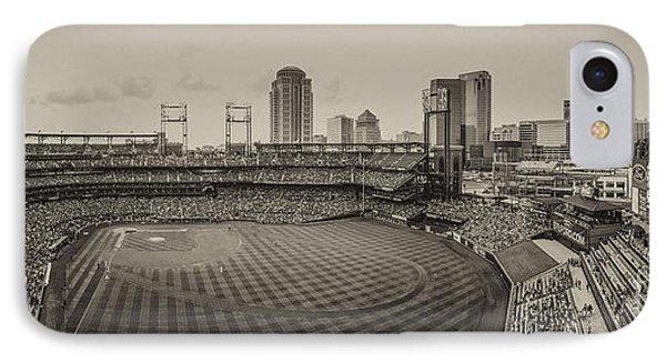 Busch Stadium Cardinals Sepia Photograph By David Haskett