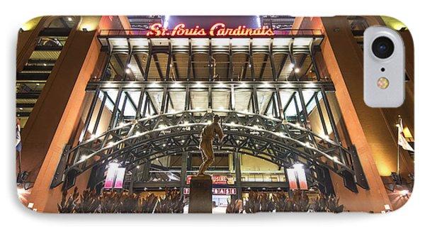 Busch Stadium St. Louis Cardinalsstan Musial IPhone Case by David Haskett