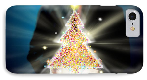 Bussinessman With Christmas IPhone Case by Atiketta Sangasaeng