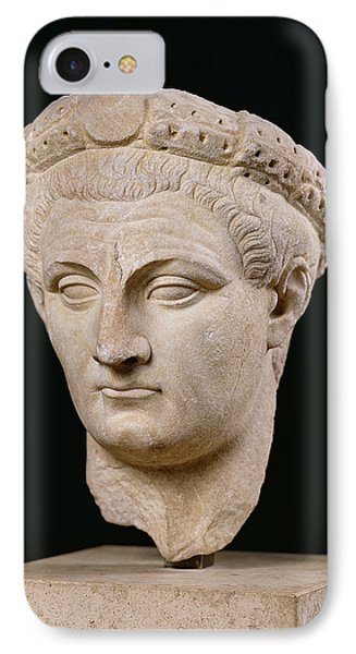 Bust Of Emperor Claudius IPhone Case by Anonymous