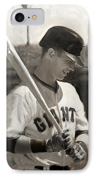 Buster Posey - Quiet Leader IPhone Case by Darren Kerr