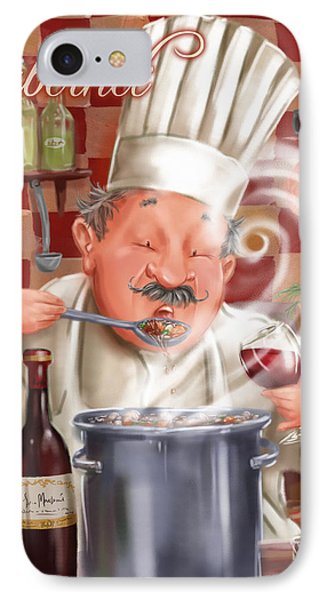 Busy Chef With Cabernet IPhone Case by Shari Warren