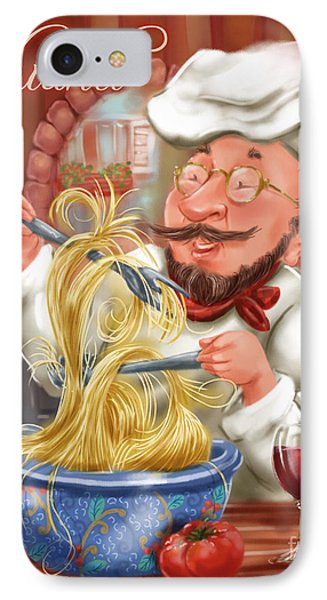 Busy Chef With Chianti IPhone Case by Shari Warren