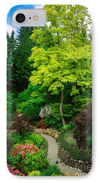 Butchart Gardens Pathway IPhone Case by Inge Johnsson
