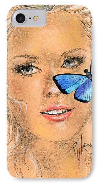 Butterfly Kisses IPhone Case by P J Lewis