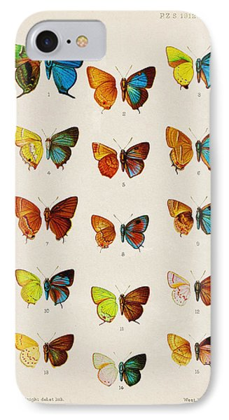 Butterfly Plate IPhone 7 Case by Pati Photography