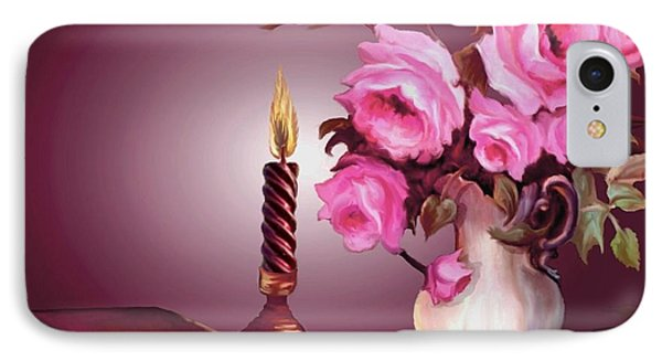 By Candle Light IPhone Case by Ron Chambers