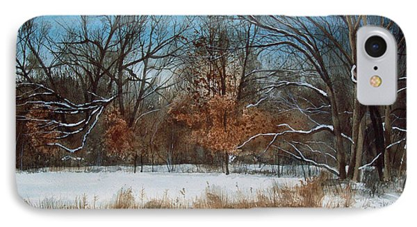 By Rattlesnake Creek Phone Case by Denny Dowdy