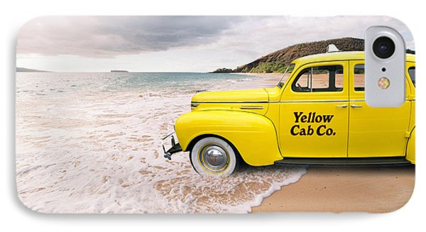 Cab Fare To Maui IPhone Case by Edward Fielding