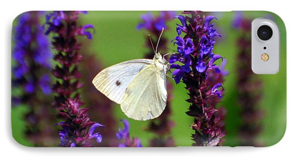 Cabbage White Butterfly Phone Case by Christina Rollo