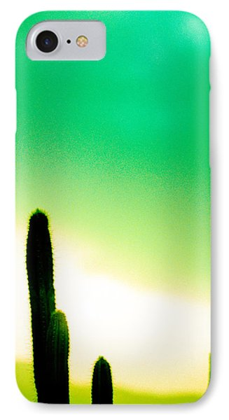 Cactus In The Morning Phone Case by Yo Pedro