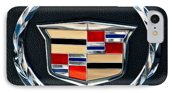 Cadillac Emblem IPhone Case by Jill Reger
