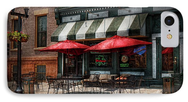 Cafe - Albany Ny - Mc Geary's Pub Phone Case by Mike Savad
