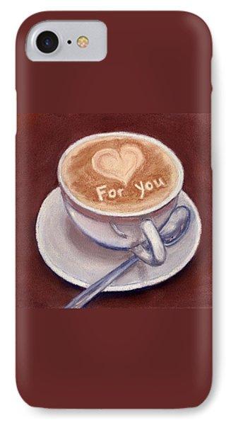 Caffe Latte Phone Case by Anastasiya Malakhova