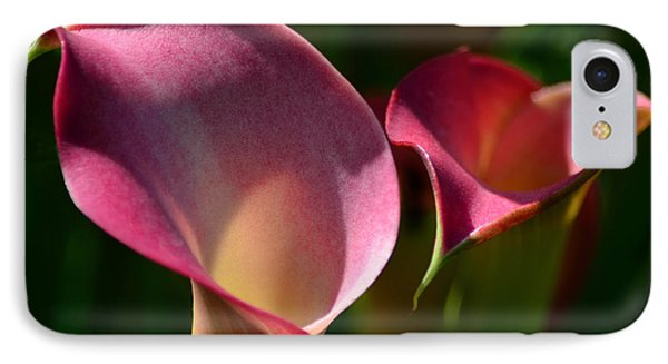 Cala Lilies Light And Shadow Phone Case by Sandi OReilly