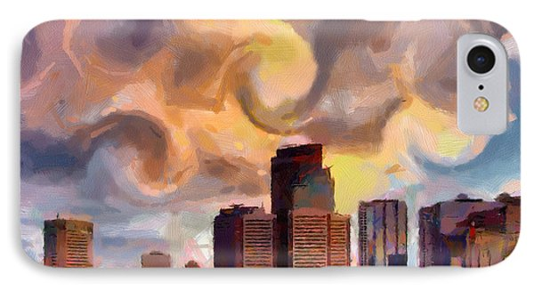 Calgaryskyline IPhone Case by Anthony Caruso