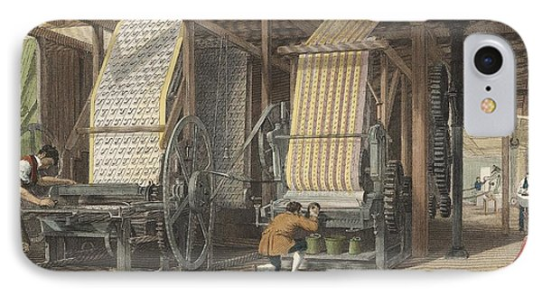 Calico Printing Machines IPhone Case by Universal History Archive/uig