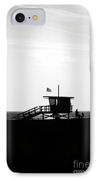California Lifeguard Stand In Black And White Phone Case by Paul Velgos
