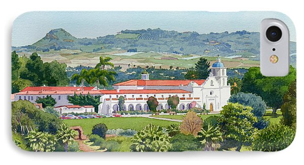 California Mission San Luis Rey IPhone Case by Mary Helmreich