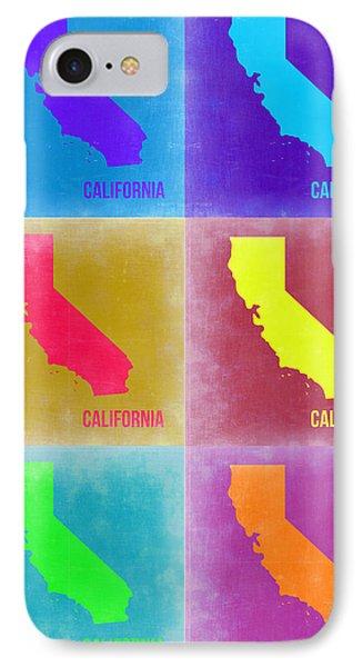 California Pop Art Map 2 IPhone Case by Naxart Studio