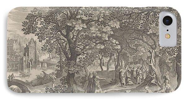 Calling Of Zacchaeus, Anonymous, Nicolaes Visscher II IPhone Case by Nicolaes Visscher (ii)