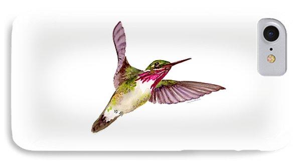 Calliope Hummingbird IPhone Case by Amy Kirkpatrick