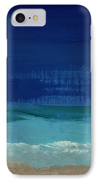 Calm Waters- Abstract Landscape Painting IPhone 7 Case by Linda Woods