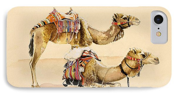 Camels From Petra IPhone 7 Case by Alison Cooper
