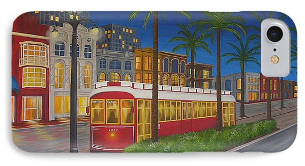 Canal Street Car Line IPhone Case by Valerie Carpenter