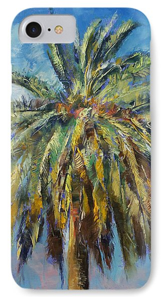 Canary Island Date Palm IPhone 7 Case by Michael Creese