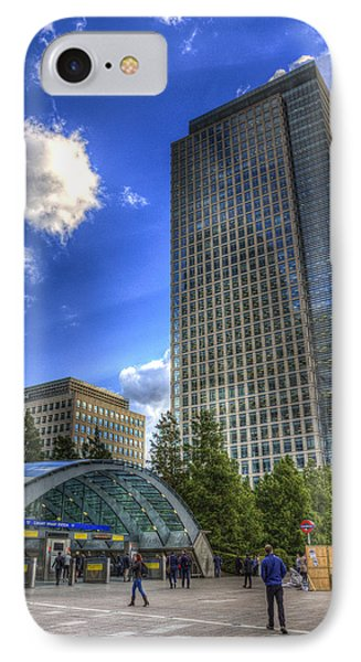 Canary Wharf Station London IPhone 7 Case by David Pyatt