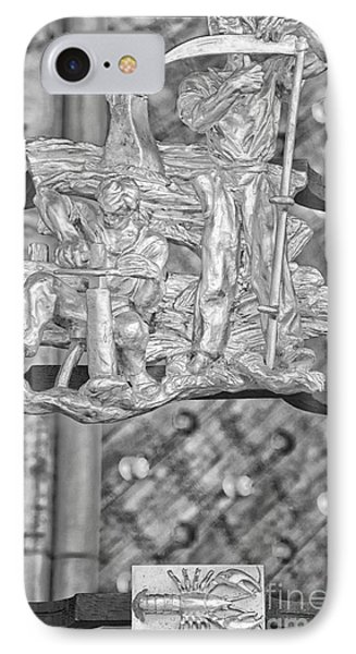 Cancer Zodiac Sign - St Vitus Cathedral - Prague - Black And White IPhone Case by Ian Monk