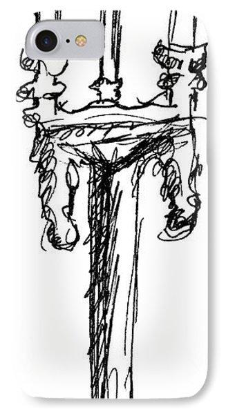 Candelabrum Sketch IPhone Case by J M Lister
