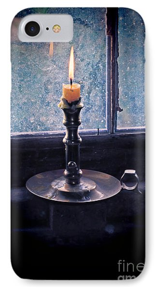 Candle In The Window IPhone Case by Jill Battaglia
