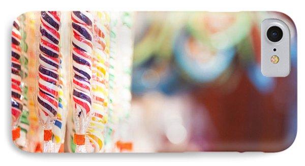 Candy Sticks At German Christmas Market Phone Case by Susan Schmitz