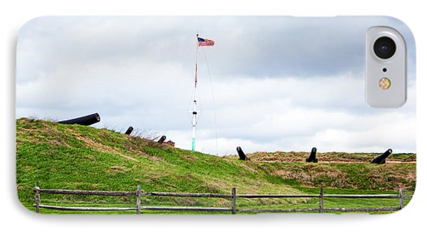 Cannons And The Star Spangled Banner IPhone Case by Susan Schmitz