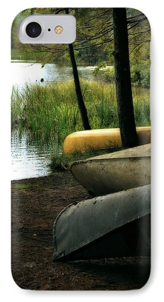 Canoe Trio Phone Case by Michelle Calkins