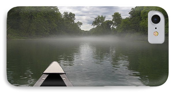 Canoeing The Ozarks IPhone Case by Adam Romanowicz