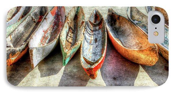 Canoes IPhone 7 Case by Debra and Dave Vanderlaan