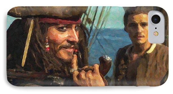 Cap. Jack Sparrow IPhone Case by Himanshu  Dubey