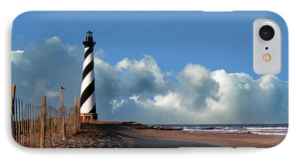 Cape Hatteras Lighthouse Nc IPhone Case by Skip Willits