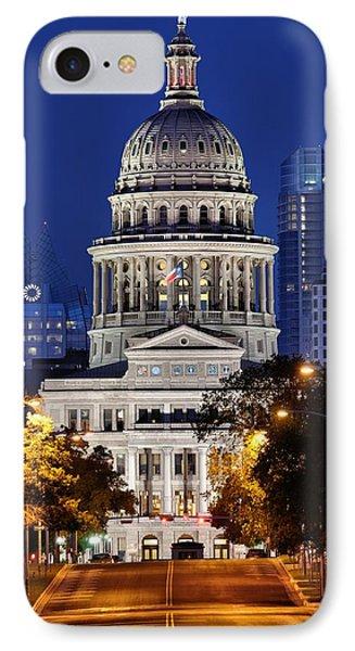 Capitol Of Texas IPhone 7 Case by Silvio Ligutti