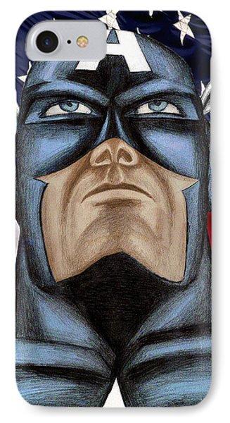 Captain America Phone Case by Michael Mestas