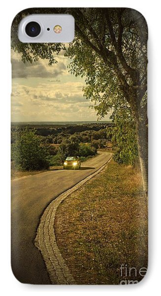 Car On Road IPhone Case by Carlos Caetano