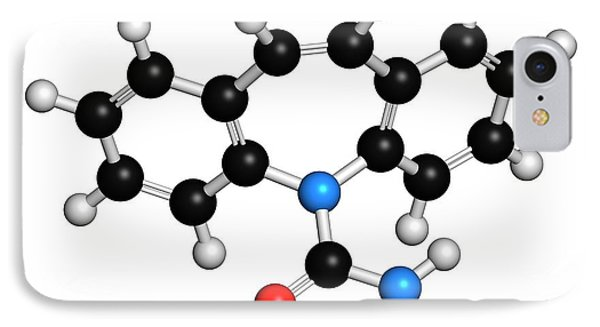 Carbamazepine Anticonvulsant Drug IPhone Case by Molekuul