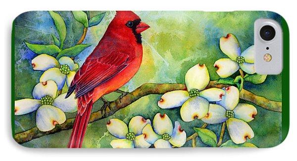 Cardinal On Dogwood IPhone Case by Hailey E Herrera