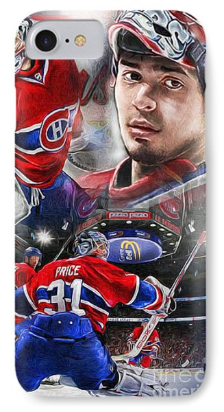 Carey Price Phone Case by Mike Oulton