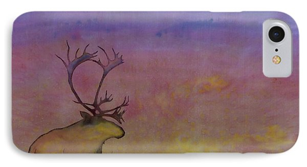 Caribou On The Tundra Phone Case by Carolyn Doe